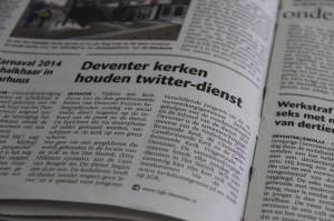 Deventer kerken houden Twitterdienst